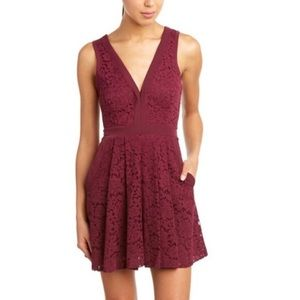 Free People Lovely in Lace Fit and Flare Dress GUC